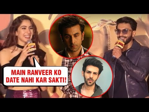 Sara Ali Khan REACTS On Dating Ranveer Singh After Ranbir Kapoor And Kartik Aaryan
