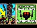 THE SCARIEST TOWER EVER!! THE DEMONIC SWORD TOWER | Bloons TD Battles Hack/Mod (BTD Battles)