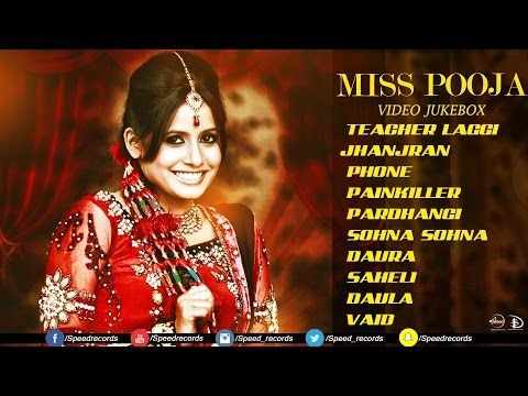 Best Of Miss Pooja | Video Jukebox | Latest Punjabi Songs | Speed Records