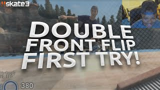 SKATE 3 - DOUBLE FRONT FLIP FIRST TRY!