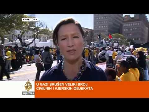 Tania Page o južnoafričkom protestu podrške Gazi