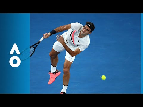 Hyeon Chung v Roger Federer first set highlights (SF) | Australian Open 2018