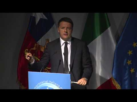 Santiago del Cile - Renzi interviene al Business Forum (23.10.15)