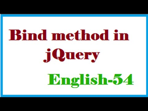 Bind method in jQuery English-54-vlr training