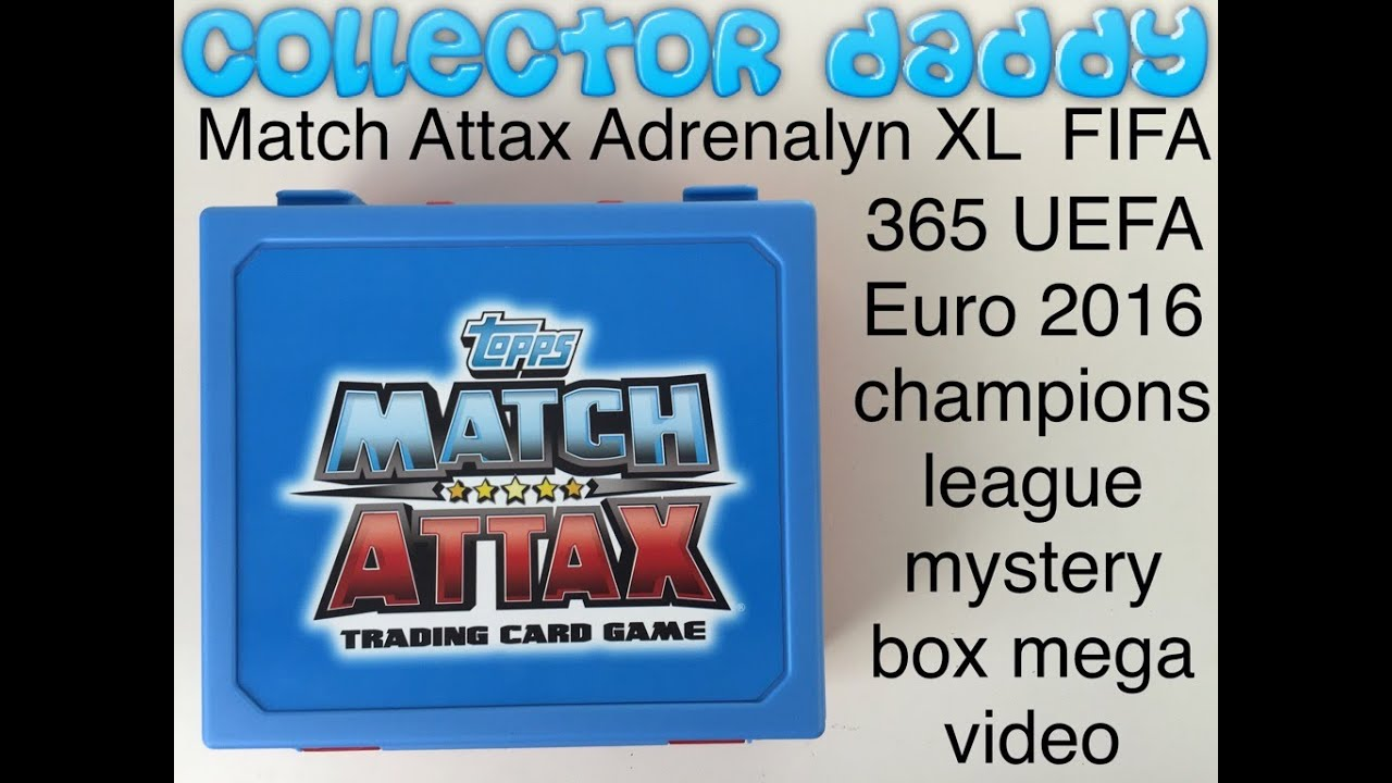 match attax adrenalyn xl euro 2016 fifa 365 uefa champions league full mystery box mega video. Black Bedroom Furniture Sets. Home Design Ideas