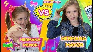 RUTINA DE DÍA HERMANA MAYOR VS HERMANA PEQUEÑA!! EXPECTATIVA VS REALIDAD DE TENER HERMANOS