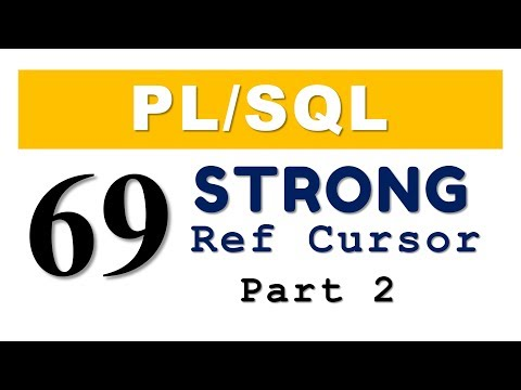 PL/SQL tutorial 69: PL/SQL Strong Ref Cursor with User Defined Record Datatype in Oracle Database