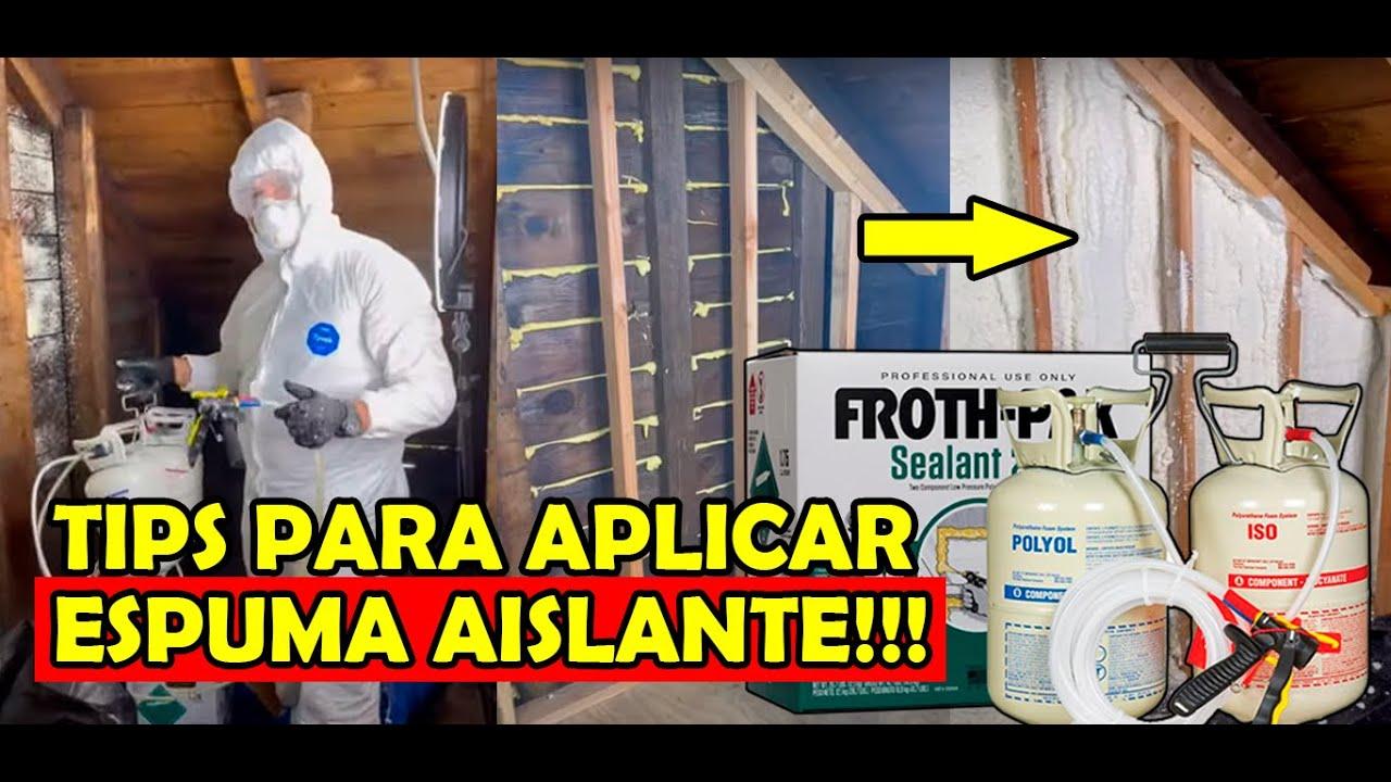 Cómo AISLAR UNA PARED CON ESPUMA de poliuretano!🏡✅