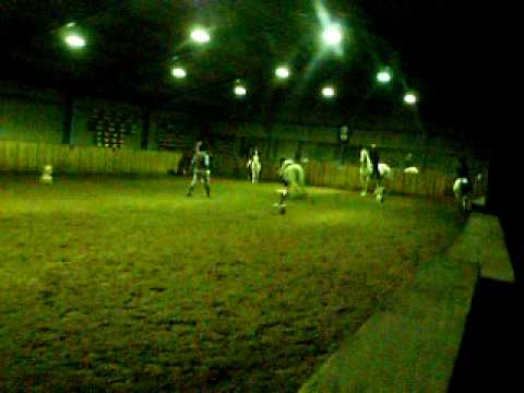 Arundel Riding Centre Christmas Games Ian Falling Off Polo