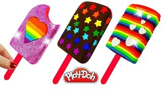 Пластилин Плей До Лепим мороженое Учим цвета Поделки из пластилина Play Doh Ice Cream Learn Colors