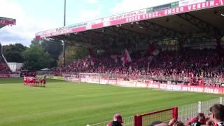 Union Berlin gegen MSV Duisburg Siegesfeier