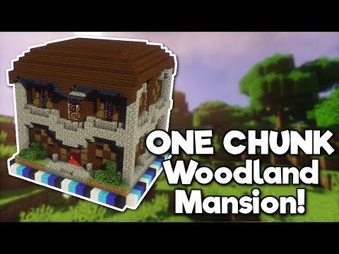 Minecraft: Woodland Mansion in ONE CHUNK! [Tutorial]