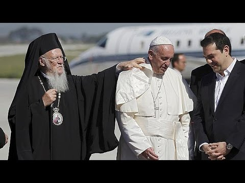 El papa Francisco llega a Lesbos