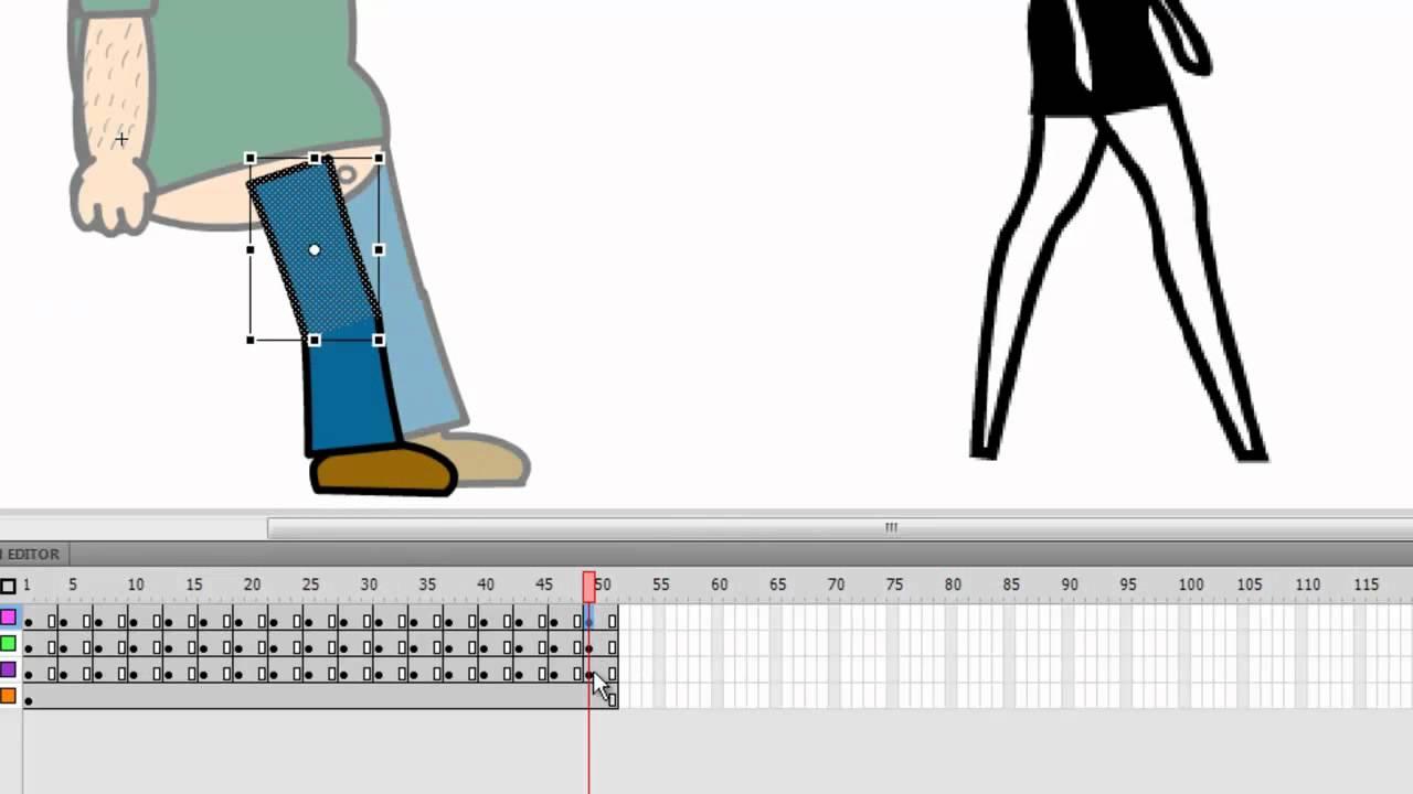 Adobe flash tutorial frame by frame walking animation youtube jeuxipadfo Image collections