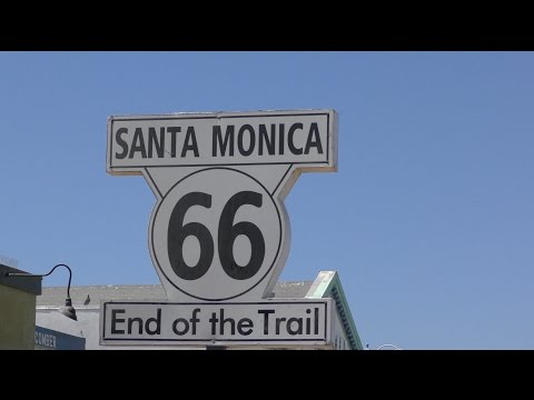 GETTING OUR KICKS ON ROUTE 66 AT SANTA MONICA PIER