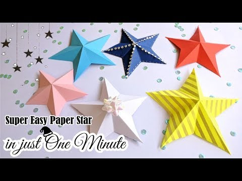 How to make Easy Paper Star || DIY One Minute Paper Star || Christmas Ornament