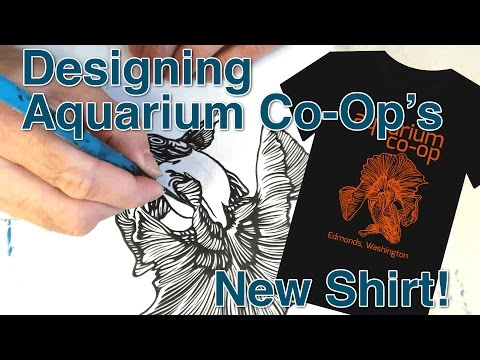 Painting with Lamont: Designing Aquarium Co-Op's New Shirt