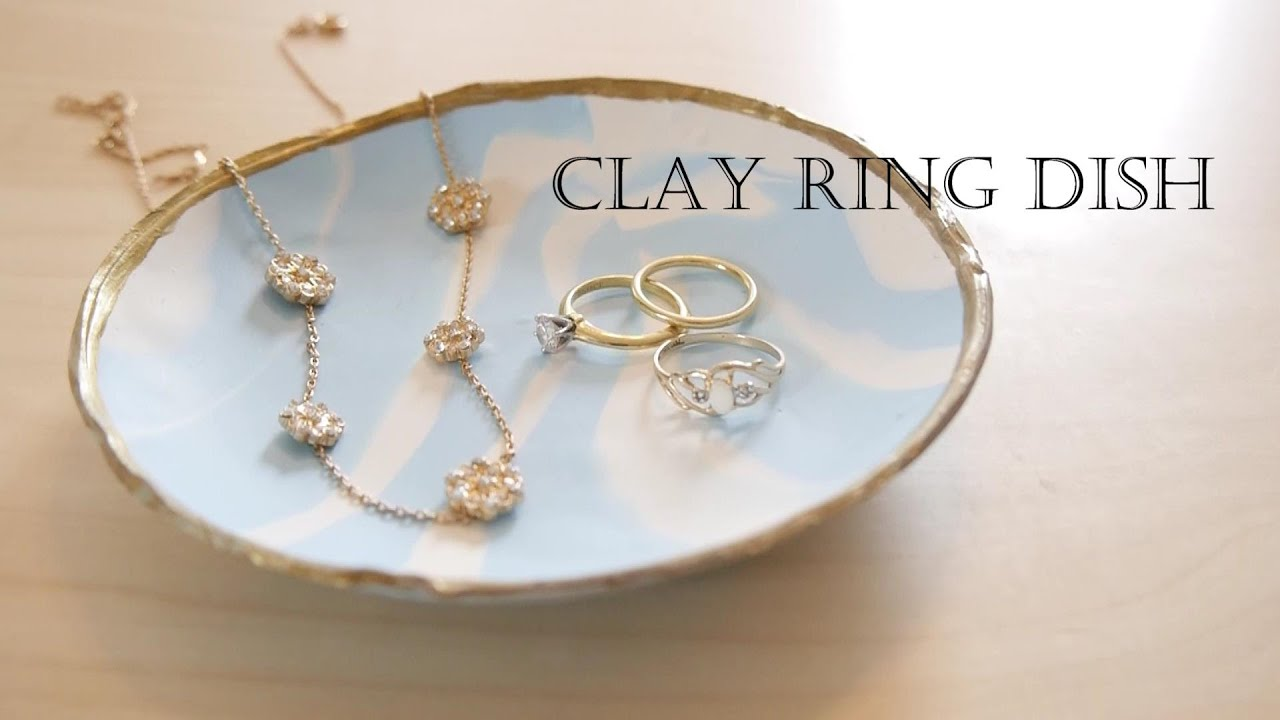 How to make a ring dish out of clay (easy!)YouTube