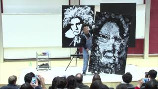 Performance painting | Feng Rong Huang | TEDxLingnanUniversity