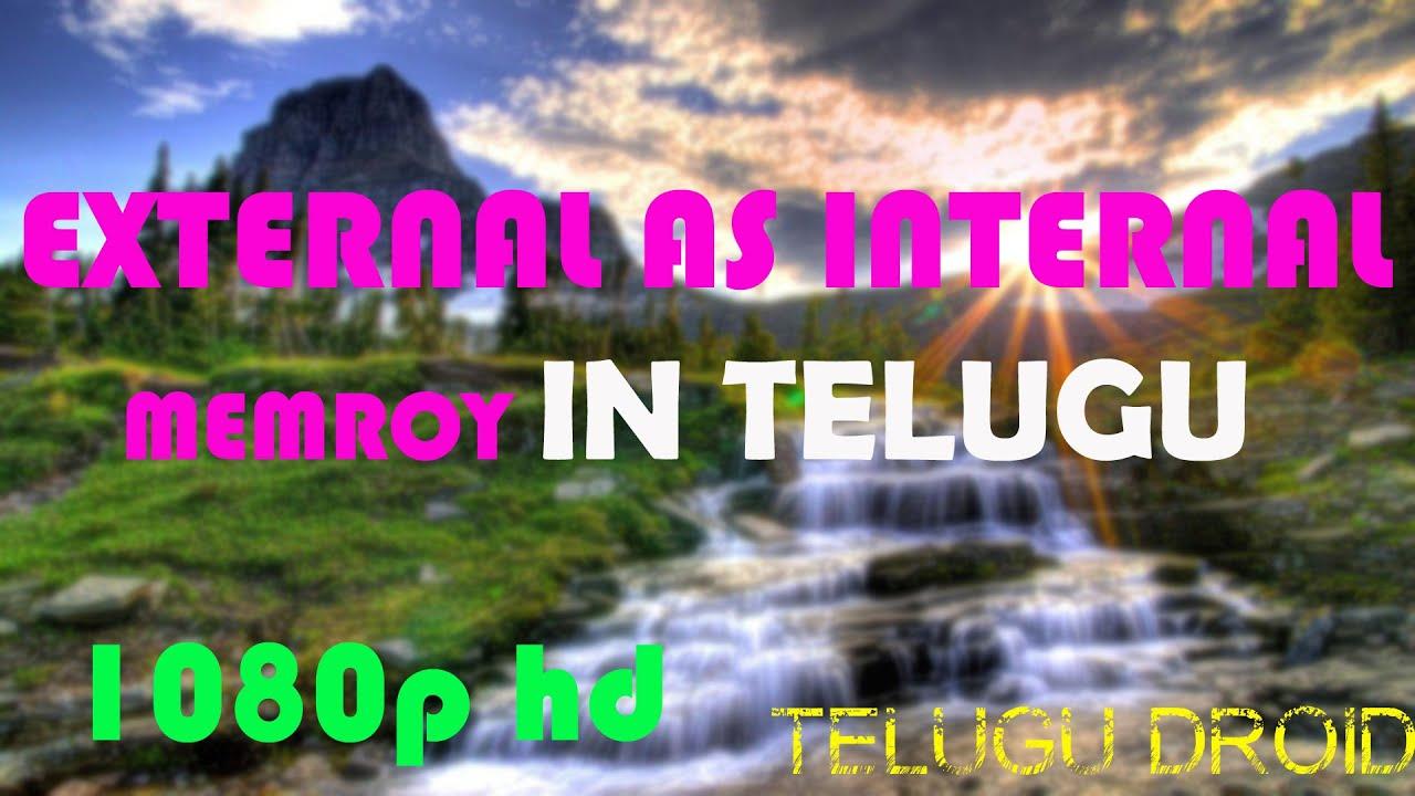 Change External To Internal Memory In Telugu [telugu Droid]