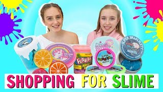 SHOPPING FOR  SLIME! Where to Buy Store Bought Slime And Putty Review!