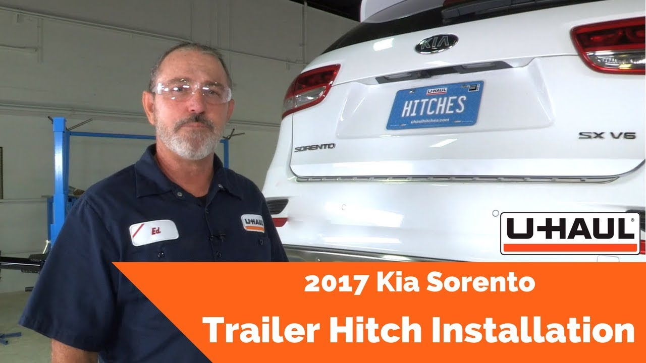 2017 kia sorento trailer hitch installation - youtube  youtube