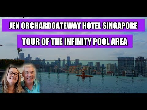 The infinity pool at the Jen Orchardgateway Hotei, Singapore