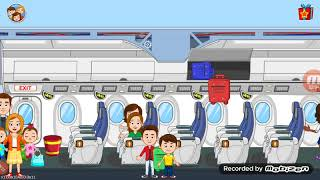 My town airport : family goes on a trip !