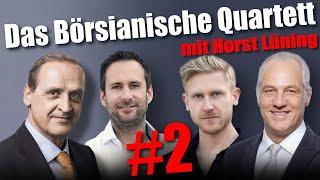 Das Börsianische Quartett Mit Horst Lüning, Florian Homm, Mission Money & Markus