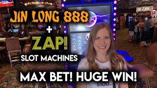 MASSIVE WIN on ZAP! Slot Machine! Max Bet Jin Long BONUS!