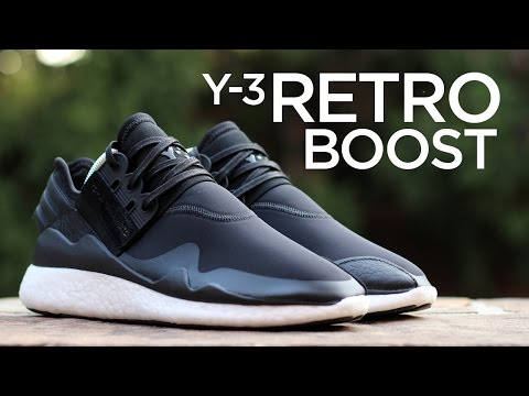 38537deb5a07c Closer Look  Y-3 Retro Boost - Black - YouTube