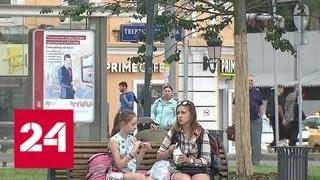 Смотреть видео Жара в столице: синоптики предупреждают о высокой вероятности пожаров - Россия 24 онлайн