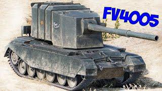 Английский истребители СОВЕТСКИХ танков - FV4005 Stage I и II. Противотанковая 183-мм САУ FV4005