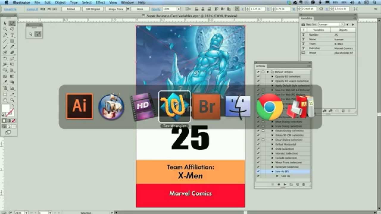 How to Use Adobe Illustrator Variable Data with XML