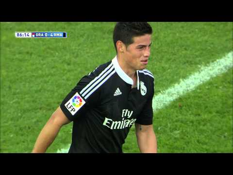Gol De James 0 4 En El Granada CF Real Madrid HD