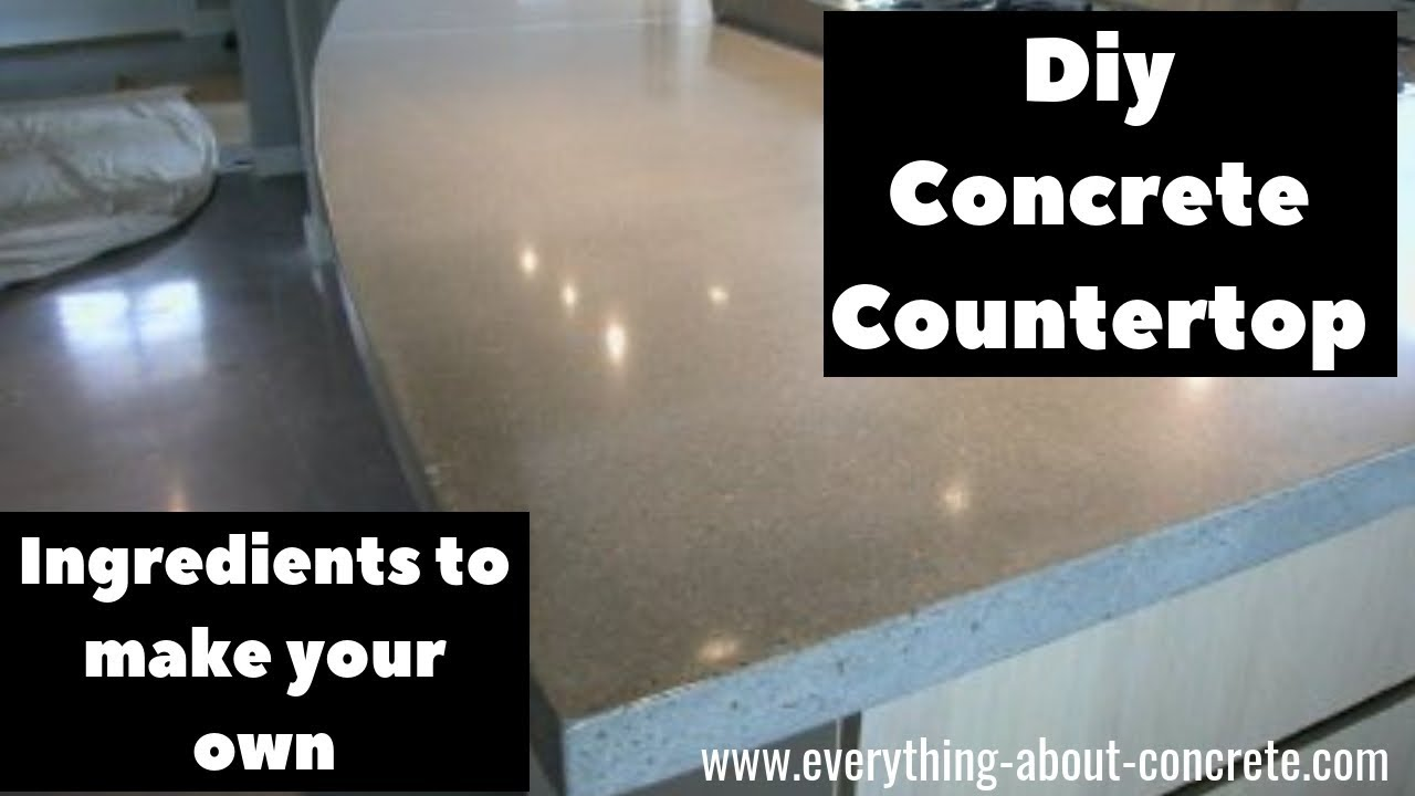 List Of Ingredients For A Concrete Countertop Mix Recipe To Make Your Own Mix