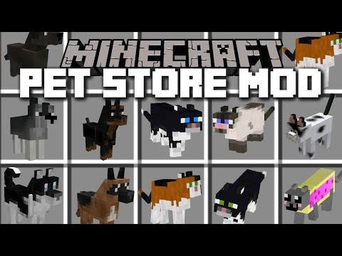 Minecraft PET STORE MOD / PLAY WITH HAMSTERS, DOGS AND CATS!! Minecraft