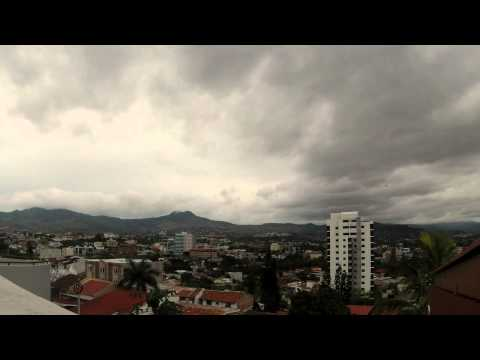tegucigalpa time lapse cloudy day