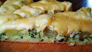 Пицца на Сковороде Курица+Ананасы. Невероятно Вкусная, Сочная и Ароматная. Pizza on Frying Pan