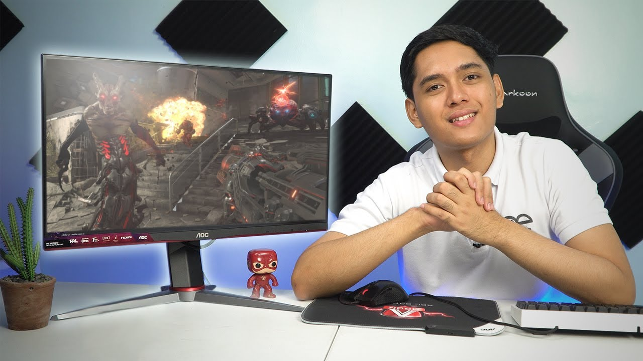 Bagong IPS 144hz 1ms at GSync Compatible Monitor?! - AOC 24G2 Quick Unboxing and Overview