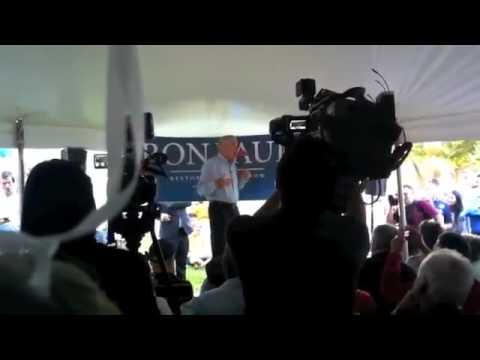 Ron Paul New Hampshire Campaign Office Speech Over 1000 People 1/2
