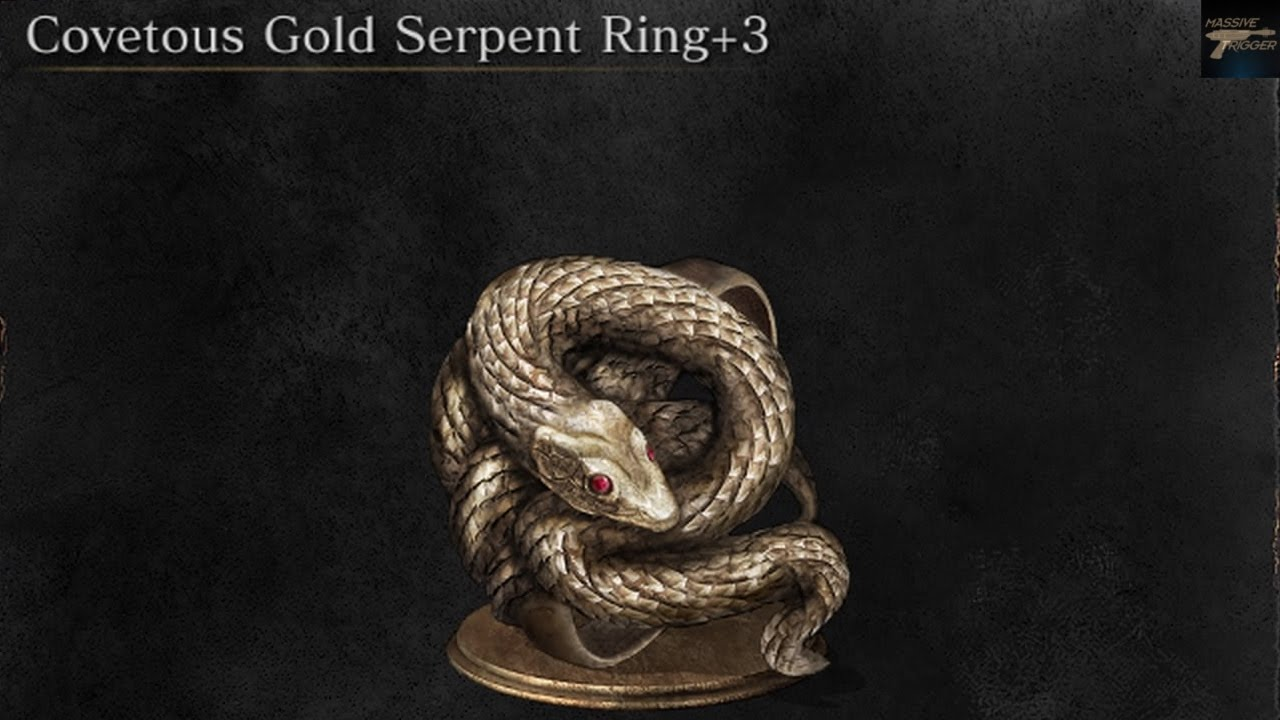 Dark Souls 3 The Ringed City Covetous Gold Serpent Ring +3