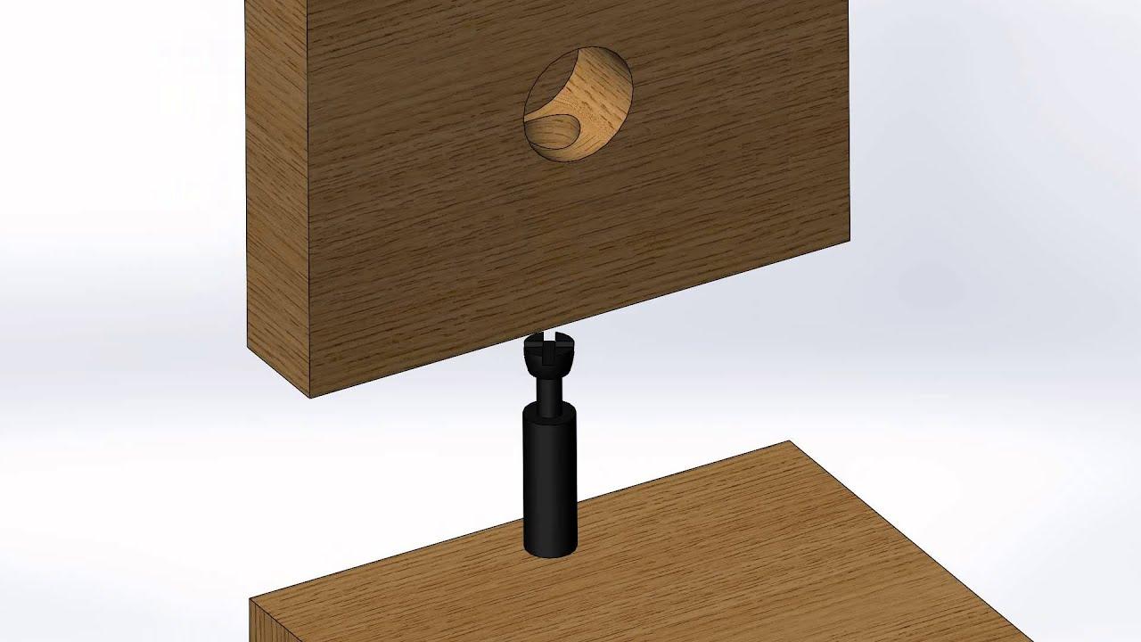 Solidworks senior design cam lock and pin example
