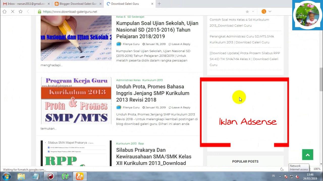 Temukan Cara Pasang Iklan Google Adsense Di Blogspot paling mudah