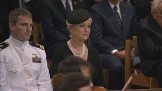 Cindy McCain Weeps During Playing of Danny Boy at John McCain Funeral