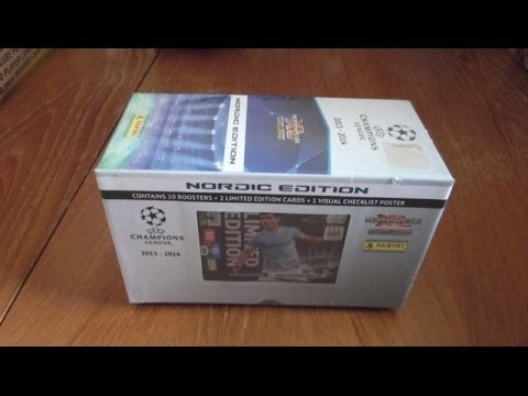 UNBOXING GIFTBOX (NORDIC EDITION) panini ADRENALYN XL CHAMPIONS LEAGUE 2013-2014 Trading Cards