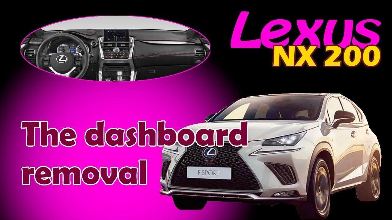 Lexus NX 200. Dashboard removal. Панель приборов Удаление.