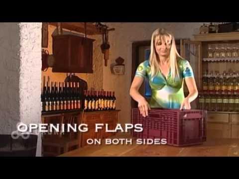The foldable Wine Box  flexible Wine Rack from CABKA