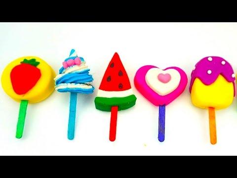 Пластилин для детей, Лепим мороженое из пластилина  Игрушкин ТВ