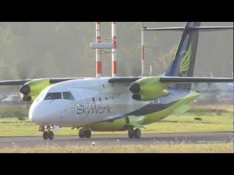 Skywork Airlines Dornier 328-110 Take Off Early in the Morning